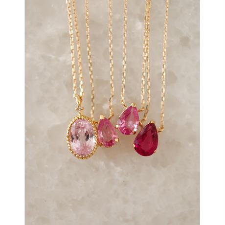 Pink Tourmalineピンクトルマリン-K18-  ネックレス