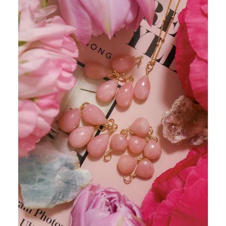 -Pink Opal-  Amuletペンダントトップ LL