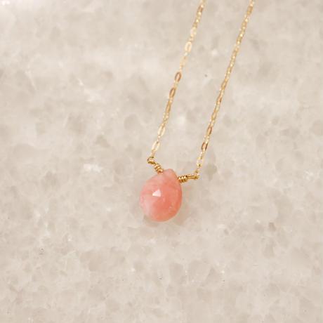 Pink Opal ピンクオパール-K10- ネックレス