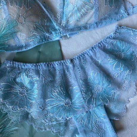 Numéro5  light blue × light emerald green  【N-0047】