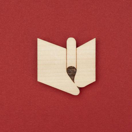 アルビレオデザイン 木製ブローチ