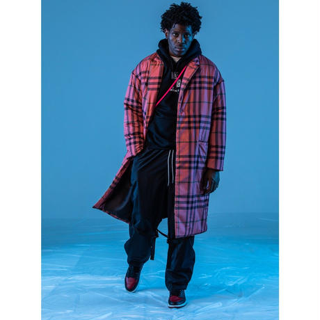 TK PUFFER CHESTER COAT (PLAID)