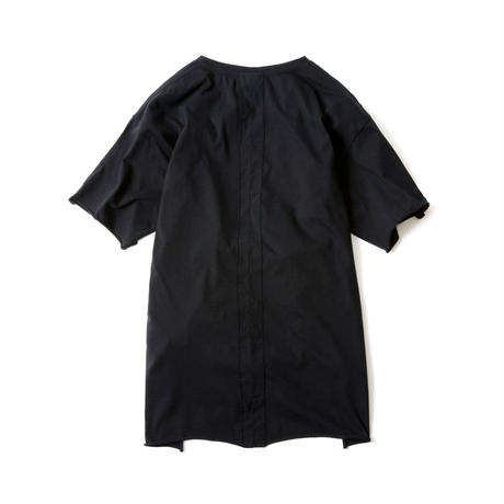 CUT OFF FINE TEE(BLACK)