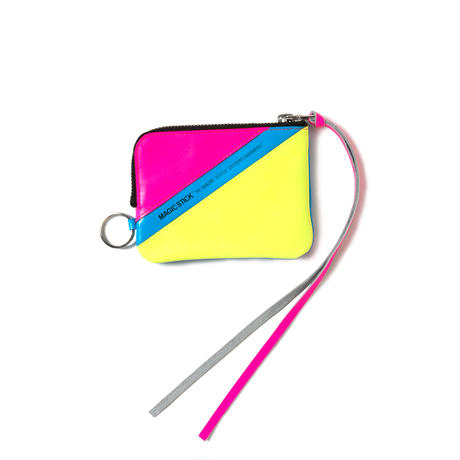 NEON LEATHER WALLET (NEON BLUE)