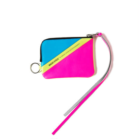 NEON LEATHER WALLET (VOLT YELLOW)