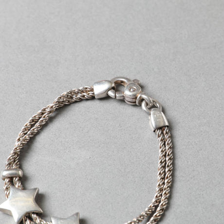 Tiffany / Star W rope motif bracelet / 1000016