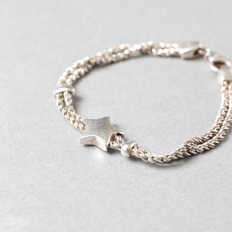 Tiffany / W rope star bracelet SV /  1000013