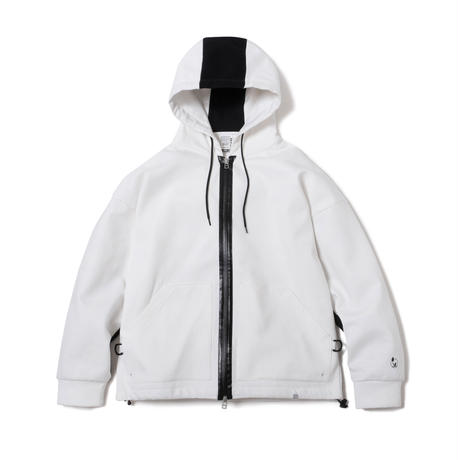 2 TONE WATER PROOF ZIP HOODIE(WHITE)