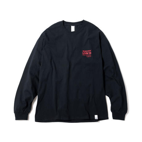 OLYMPIA LS TEE(BLACK 5 RED)