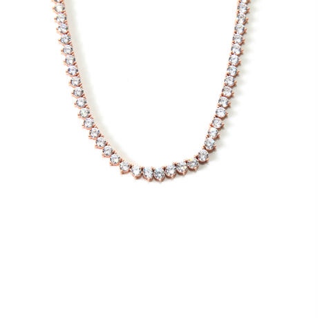 DESIGNER NECKLACE 14K PINK GOLD FINISH LAB