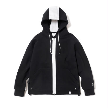 2 TONE WATER PROOF ZIP HOODIE(BLACK)
