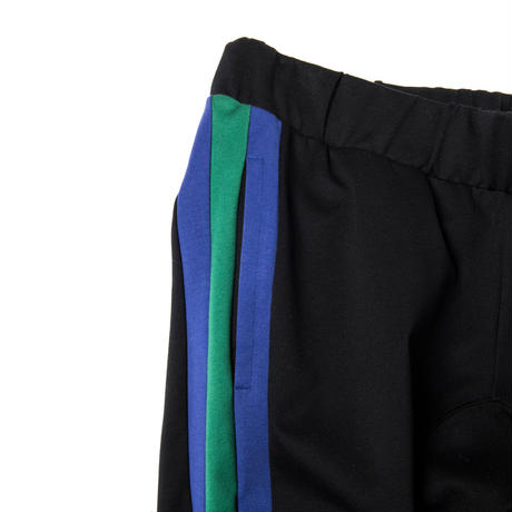 LINED CLASSIC JERSEY PTS (BLACK×BLUE GREEN)