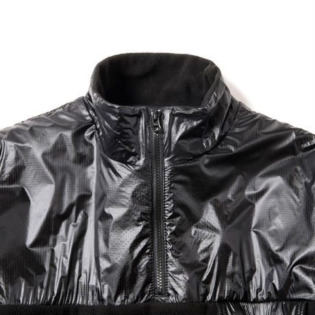 WIND PROOF FLEECE ANORAK(TRIPLE BLACK)