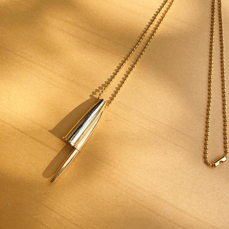 BIC PEN NECKLACE(GOLD)