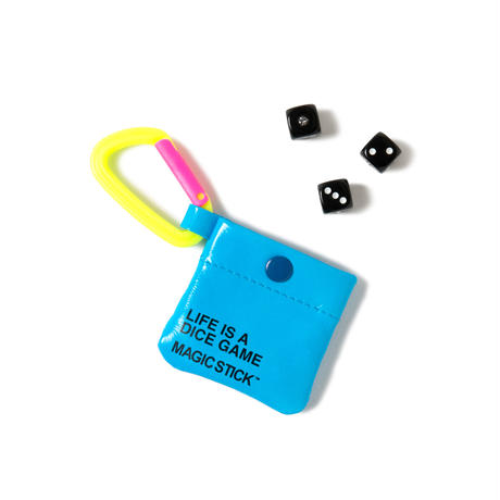 TRAVEL CHINKORO POUCH with DICE(NEON BLUE)