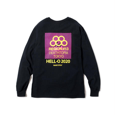 OLYMPIA LS TEE(BLACK 2 YELLOW)