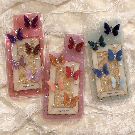 butterfly iPhone case (BLUE)
