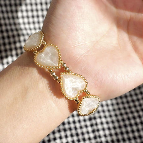 pretty heart bracelet watch (crystal white Ver.)