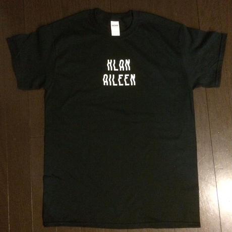 【Klan Aileen】バンド・ロゴ Tシャツ  (黒/白ロゴ)