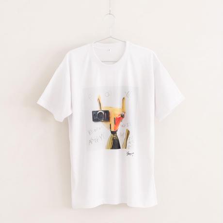 【長坂真護】Tシャツ「FOX knows anything」(リサイクルポリエステル)