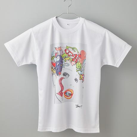 【長坂真護】Tシャツ「Don't Fuck With me」(リサイクルポリエステル)
