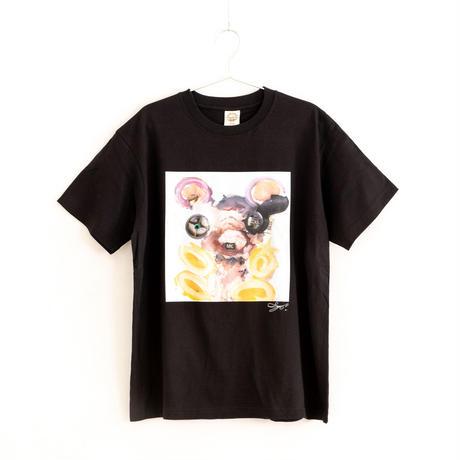 【長坂真護】Tシャツ「AI」(オーガニックコットン)