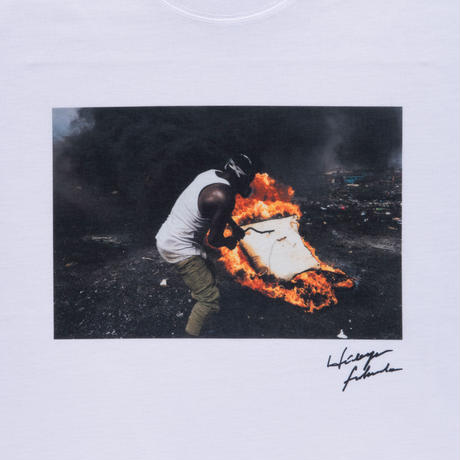 【Photo by 福田秀世】Tシャツ「Non burnable flame 1」(リサイクルポリエステル)