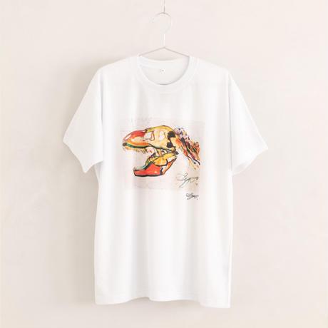 【長坂真護】Tシャツ「The colorful dinosaur」(リサイクルポリエステル)