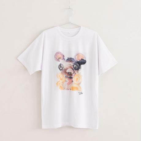 【長坂真護】Tシャツ「AI」(リサイクルポリエステル)
