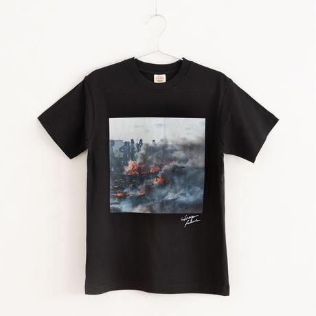 【Photo by 福田秀世】Tシャツ「Non burnable smoke 1」(オーガニックコットン)