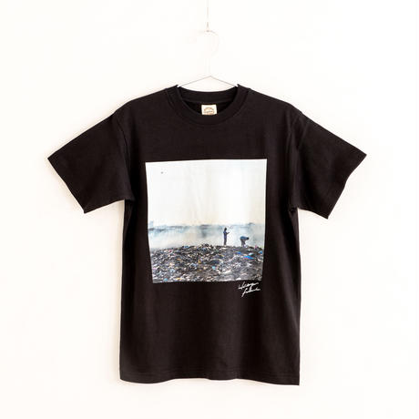 【Photo by 福田秀世】Tシャツ「People in E-waste sea 2」(オーガニックコットン)