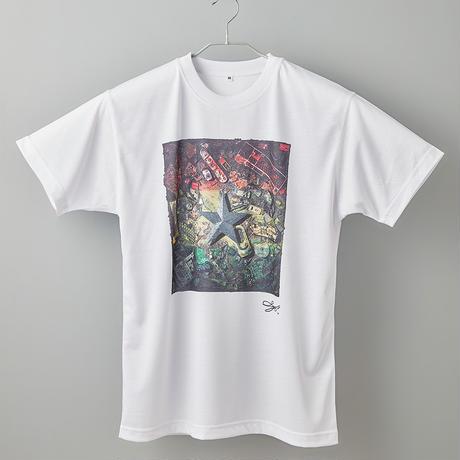 【長坂真護】Tシャツ「Ghana's Flag」(リサイクルポリエステル)