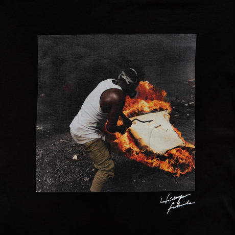 【Photo by 福田秀世】Tシャツ「Non burnable flame 1」(オーガニックコットン)