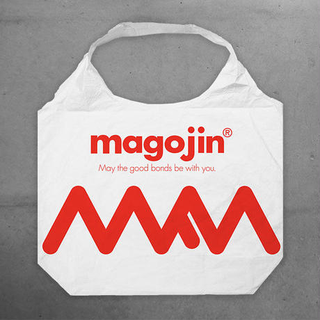 magojin  TYVEK® MARCHE TOTE BAG  WHITE/RED