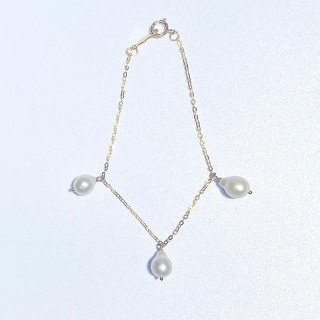 Larme bracelet 3 pearls