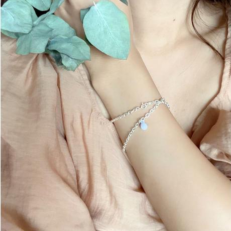 Emma silver choker lavender