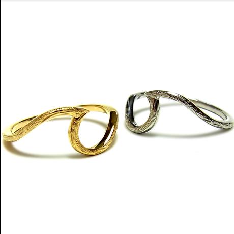 Hawaiian jewelry wave ring