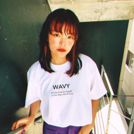 【直筆サイン入り】WAVY Lyrics T-shirt ★直筆サイン入りポストカード付
