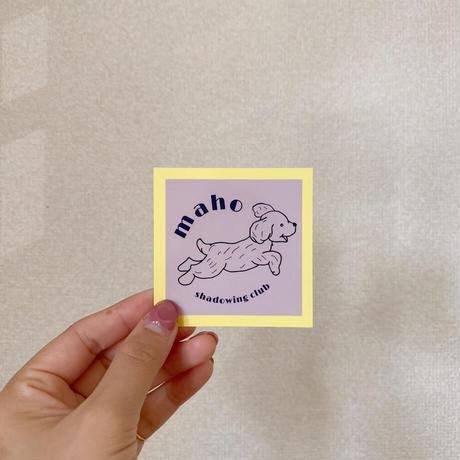 【再販!!】msc初グッズ!msc犬ロゴオリジナルステッカー 3色セット