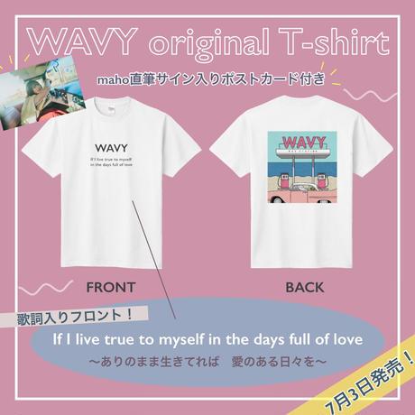 直筆サイン入りポストカード付き★WAVY Lyrics T-shirt