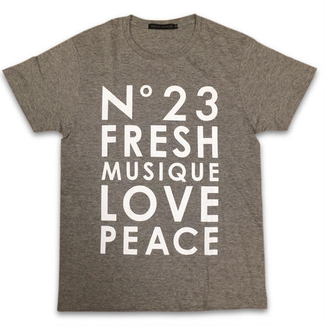 """No.23 FRESH"" T-SHIRTS (GREY)"