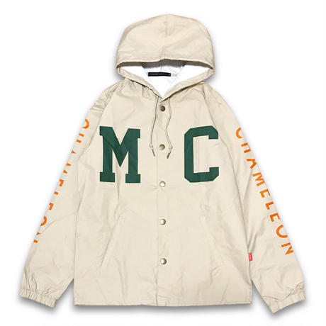 """THROW BACK"" NYLON HOODED JACKET (CLASSIC KHAKI)"