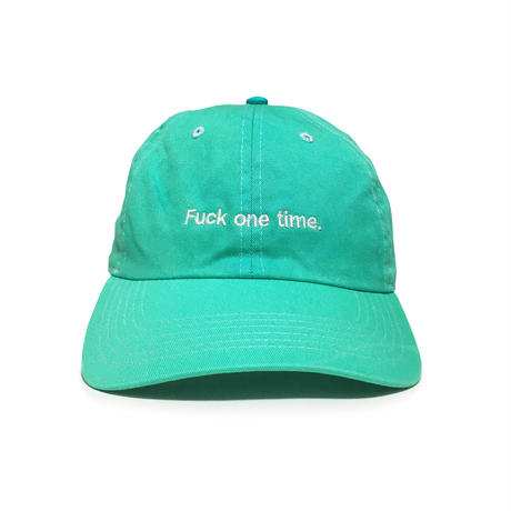 """F**k one time"" SUMMER RESORT 6PANEL CAP (MOJITO GREEN)"
