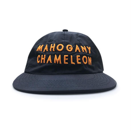 """MC CLASSIC LOGO"" 6PANEL NYLON CAP (BLACK / ORANGE)"