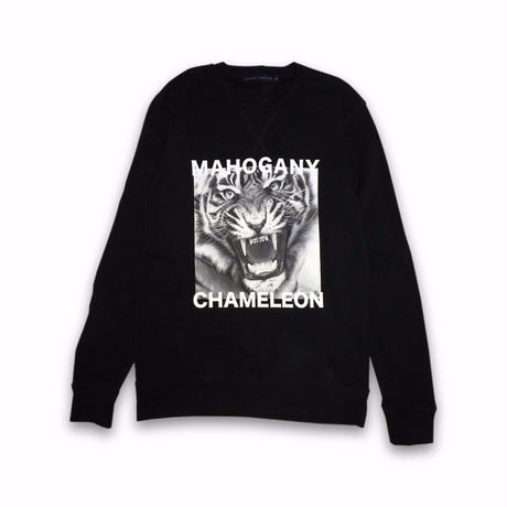 """MAHOGANY  TIGER"" CREW SWEAT"