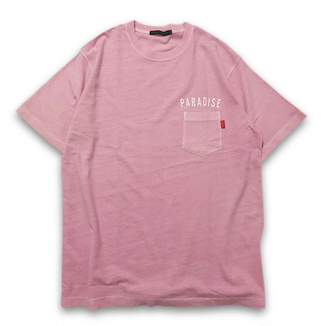 """VINTAGE WASHED"" POCKET T-SHIRTS ( ITALIAN ROSE)"