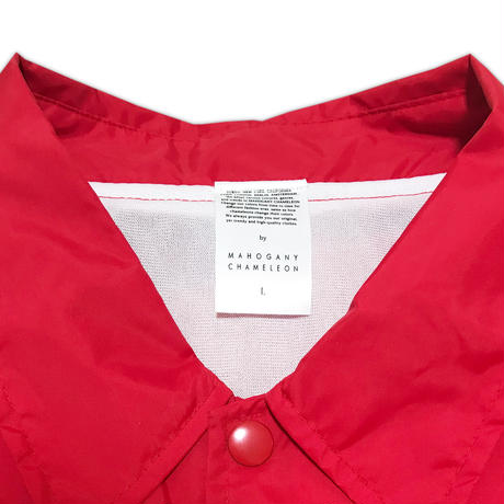 """BACK TO BASICS"" COACH JACKET (RED)"