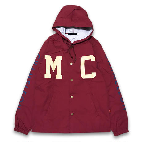 """THROW BACK"" NYLON HOODED JACKET (CLASSIC CARMINE)"