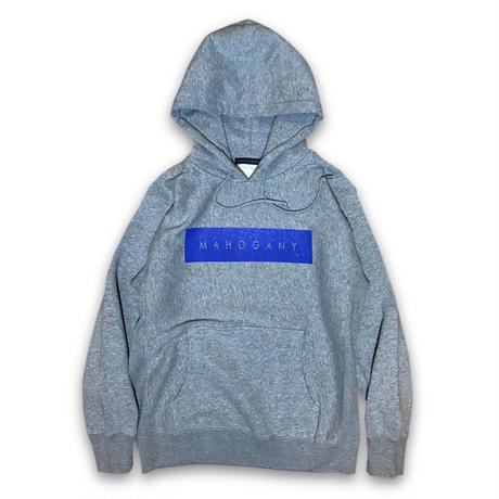 """BOX LOGO"" HOODIE (GRAY / ROYAL BLUE)"