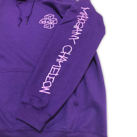 """NEON TAGGING"" SWEAT PARKA  (PURPLE)"